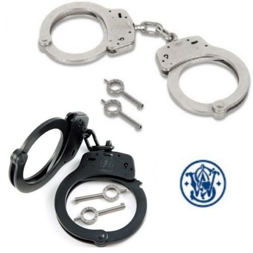 SMITH & WESSON ~ HANDCUFFS ~ Silver / Blued (M-100)