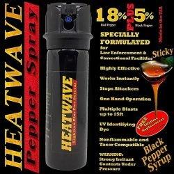 HEATWAVE 23% OC ~ 3 OZ Pepper Spray ~ Flip Top Shotgun