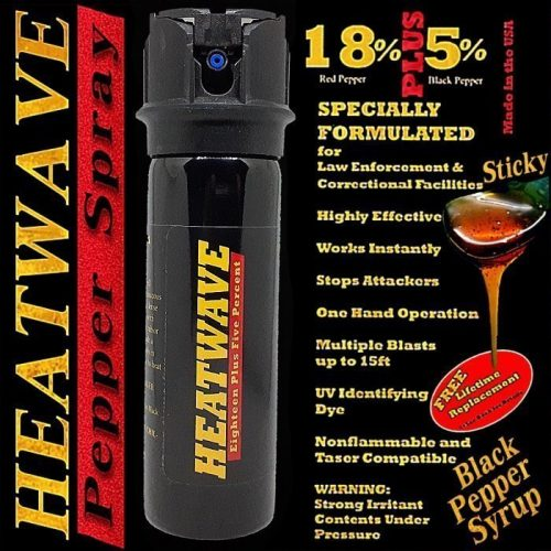 HEATWAVE 23% OC ~ 3 OZ Pepper Spray ~ Flip Top Shotgun