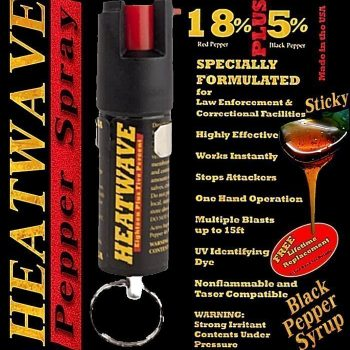 HEATWAVE PEPPER SPRAY ~ 1/2 OZ w/ KEY RING