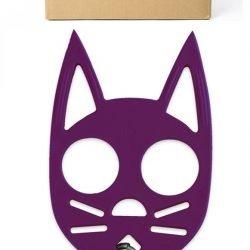 Wild Kat Keychain ~ Purple