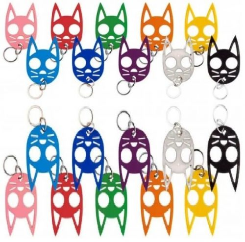 The Original ~ Wild Kats & Dogs Polymer Self Defense Key-Chains ~ 22 Colors to Choose
