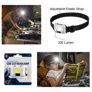 200 Lumen/ 3 Stage COB LED Head Lamp - White