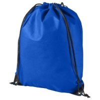"Backpack/Bag w/ Draw String & Stopper (16.5"" x 13.38"") ~ 20 lbs Capacity - Blue"
