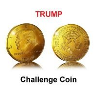 TRUMP Challenge Coin ~ In Capsule - Gold Plated