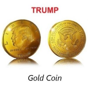 TRUMP Coin ~ Encapsulated - Gold Plated