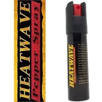 HEATWAVE 23% OC ~ .75 oz. Twist-Loc Pepper Spray w/ Optional Leather Holster - Black - No Holster