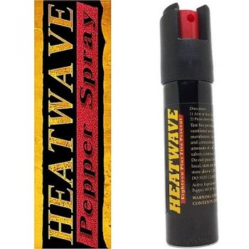 HEATWAVE 23% OC ~ 3/4 oz. Twist-Lok Pepper Spray w/ Optional Leather Holster - Black - No Holster