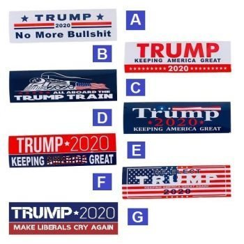 "3"" x 10"" TRUMP 2020 Bumper Stickers ~ 7 Styles"