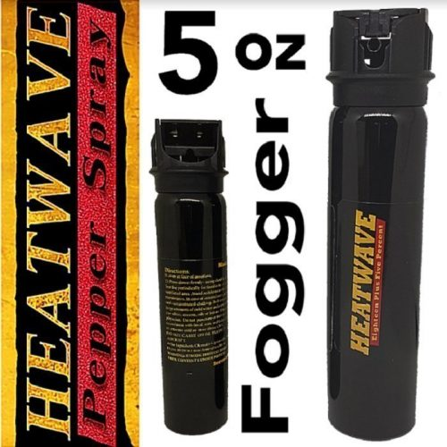HEATWAVE 23% OC Pepper Spray ~ 5 oz FOGGER Flip-Top