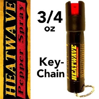 HEATWAVE .75 OZ [ 23% OC ] ~ PEPPER SPRAY W/ KEY RING
