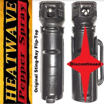 "Original HEATWAVE ""STINGRAY"" Flip-Top Tactical Grip (3/4 oz Container) ~ 23% O.C. Pepper Spray ~ Key-Ring Attachment"