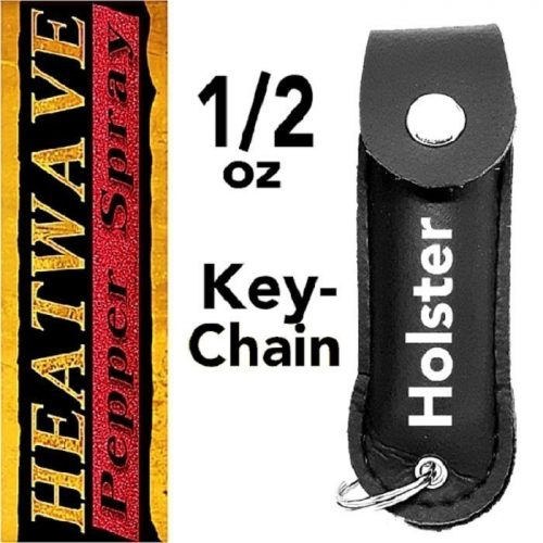 Leather Holstered .5 oz Pepper Spray Key-Chain